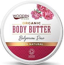 Парфюмерия и Козметика Масло за тяло с българска роза - Wooden Spoon Bulgarian Rose Body Butter