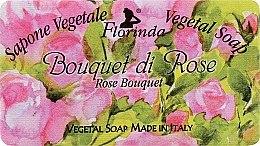 """Парфюмерия и Козметика Натурален сапун """"Букет от рози"""" - Florinda Sapone Vegetale Vegetal Soap Rose Bouquet"""