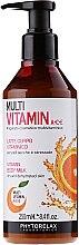 Парфюми, Парфюмерия, козметика Мултивитаминно мляко за тяло - Phytorelax Laboratories Multi Vitamin A+C+E Body Milk