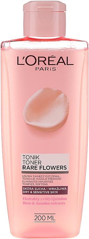 Тоник за суха и чувствителна кожа - L'Oreal Paris Rare Flowers Tonic Dry and Sensitive Skin