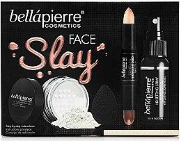 Парфюмерия и Козметика Комплект за грим, медиум - Bellapierre Face Slay Kit Fair/Medium (двустранен стик/8.6g+пудра/6.5g+фикс. спрей/70ml+блендер/1pcs)