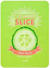 Парфюмерия и Козметика Комплект маски за лице под формата на краставица - A'pieu Slice Sheet Mask Cucumber
