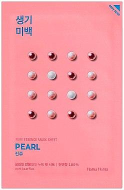 """Изсветляваща маска от плат за лице """"Перлена"""" - Holika Holika Pure Essence Mask Sheet Pearl"""