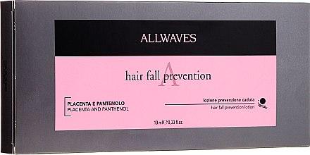 Ампули против косопад с плацента и пантенол - Allwaves Hair Lotion
