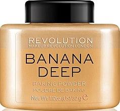 Парфюмерия и Козметика Пудра за лице - Makeup Revolution Banana Deep Baking Powder