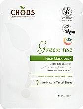 Парфюмерия и Козметика Маска за лице със зелен чай - CHOBS Green Tea Face Mask Pack