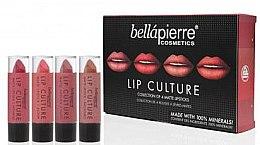 Парфюми, Парфюмерия, козметика Комплект - Bellapierre Lip Culture 4 Pack Matte Lipsticks (червило/4x3.5g)