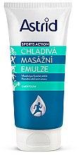Парфюмерия и Козметика Хидратираща емулсия за масаж - Astrid Sports Action Cooling Massage Cream