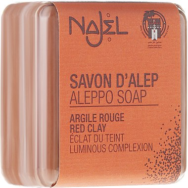 "Сапун от Алепо ""Червена глина"" - Najel Aleppo Soap with Red Clay"
