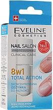 Парфюмерия и Козметика Заздравител за нокти 8в1 - Eveline Cosmetics Nail Salon Clinical Care 8 in 1
