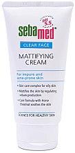 Парфюми, Парфюмерия, козметика Матиращ крем за лице - Sebamed Clear Face Mattifying Cream
