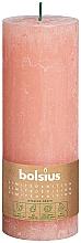 Парфюмерия и Козметика Цилиндрична свещ, розова, 190х68 мм - Bolsius