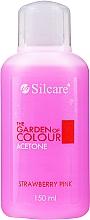 "Парфюмерия и Козметика Лакочистител ""Ягода"" - Silcare The Garden Of Colour Aceton Strawberry Pink"