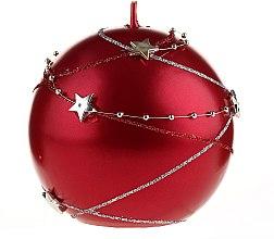 Парфюмерия и Козметика Декоративна свещ, червена, 10х10см - Artman Christmas Garland