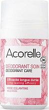 Парфюми, Парфюмерия, козметика Органичен рол-он дезодорант с аромат на дива роза - Acorelle Wildrose Deo Roll-on