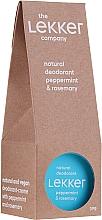 Парфюмерия и Козметика Натурален крем-дезодорант за тяло с аромат на мента и розмарин - The Lekker Company Natural Deodorant