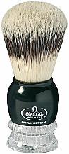 Парфюмерия и Козметика Четка за бръснене, 10275, черна - Omega