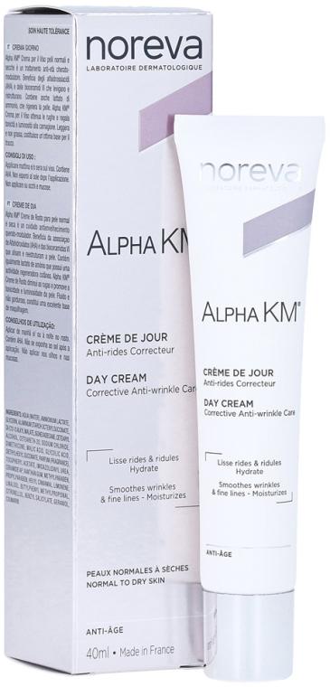 Коригиращ дневен крем против стареене за нормална и суха кожа - Noreva Laboratoires Alpha KM Day Cream — снимка N1