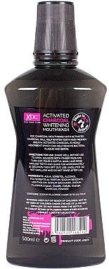 """Вода за уста """"Активен въглен"""" - Xoc Activated Charcoal Whitening Mouthwash — снимка N2"""