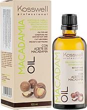 Парфюмерия и Козметика Възстановяващо масло за коса - Kosswell Professional Macadamia Oil