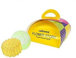 Парфюми, Парфюмерия, козметика Подаръчен комплект за тяло - Cafe Mimi Flower Story (сапун/80g + бомб. за вана/120g)