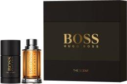 Парфюми, Парфюмерия, козметика Hugo Boss The Scent - Комплект (edt/50ml + deo/stick/75ml)