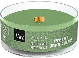 Парфюмерия и Козметика Ароматна свещ в чаша - WoodWick Petite Candle Hemp And Ivy