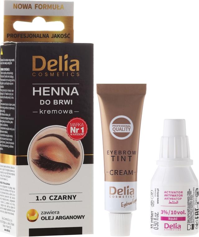 Крем-боя за вежди - Delia Cosmetics Cream Eyebrow Dye