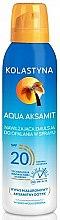 Парфюми, Парфюмерия, козметика Овлажняващ спрей за загар - Kolastyna Aqua Aksamit SPF 20