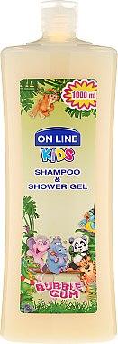"Шампоан-душ гел за деца ""Дъвка"" - On Line Kids Shampoo & Body Wash Bubble Gum — снимка N1"