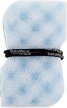 Парфюмерия и Козметика Масажна гъба за баня, синя - Suavipiel Black Aqua Power Massage Sponge