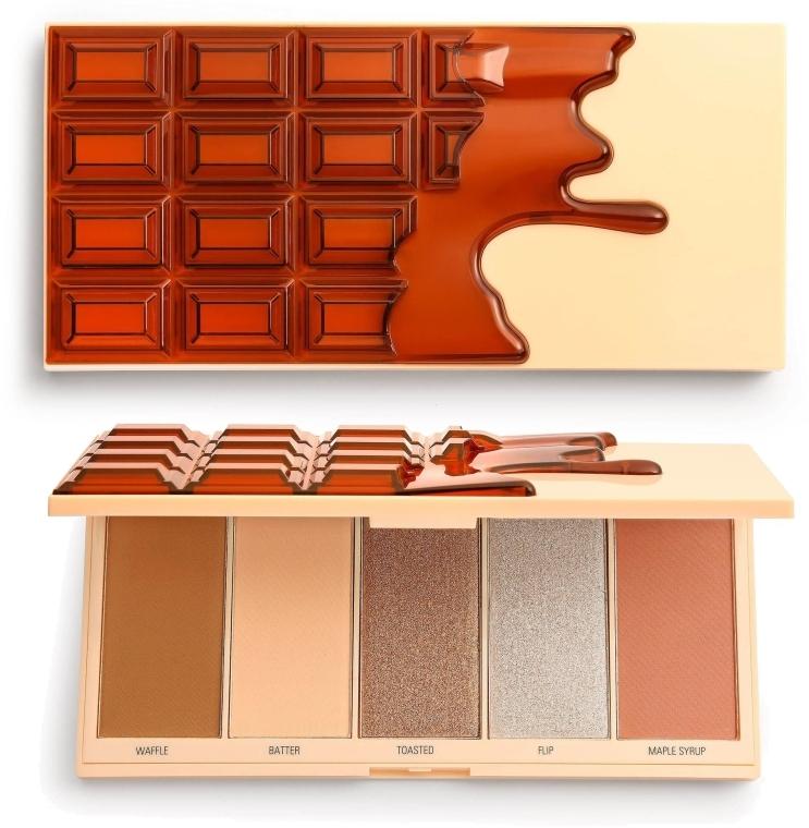 Палитра за грим - I Heart Revolution Chocolate Face Palette Waffle