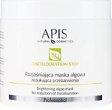 Парфюмерия и Козметика Изсветляваща маска за лице - APIS Professional Discolouration-Stop Brightening Algae Mask For Reduction of Discolouration