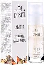Парфюми, Парфюмерия, козметика Натурален гел-серум за лице с кехлибар - Hristina Cosmetics SM Crystal Amber Facial Serum