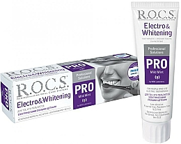 Парфюмерия и Козметика Избелваща паста за зъби за електрически четки - R.O.C.S. Pro Electro & Whitening Mild Mint