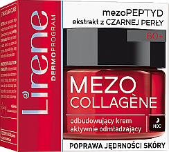 Парфюмерия и Козметика Възстановяващ активно подмладяващ нощен крем за лице 60+ - Lirene Mezo Collagene