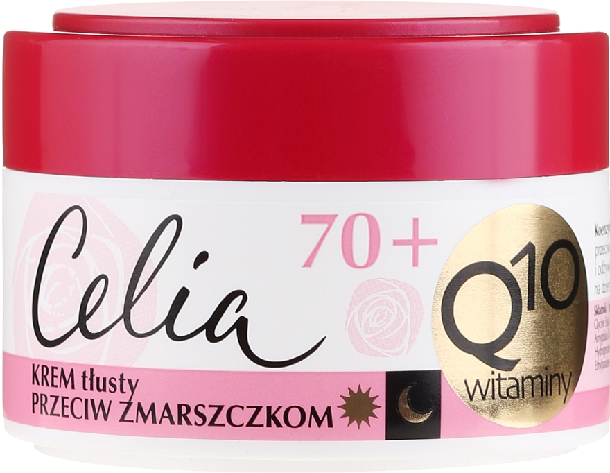 Витаминен крем против бръчки - Celia Q10 Face Cream 70+