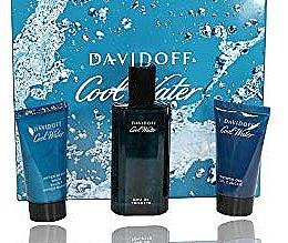 Парфюми, Парфюмерия, козметика Davidoff Cool Water - Комплект (тоал. вода/75ml + душ гел/50ml + афтър. балсам/50ml)