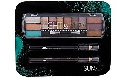 Парфюми, Парфюмерия, козметика Комплект за грим - Cosmetic 2K Night & Day (сенки/8,16g + моливи за очи/2x0,6g)