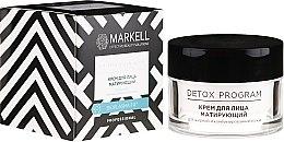 Парфюмерия и Козметика Матиращ крем за мазна и комбинирана кожа - Markell Cosmetics Detox Program Face Cream
