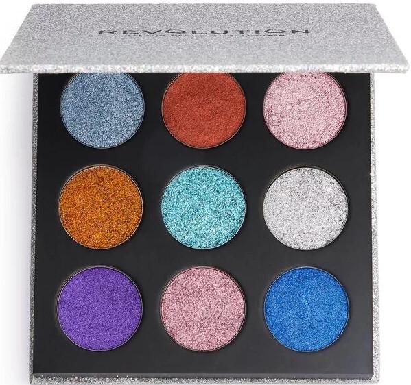 Палитра с блясъци за очи - Makeup Revolution Pressed Glitter Palette Illusion — снимка N1