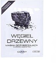 """Парфюми, Парфюмерия, козметика Маска за лице """"Дървен въглен"""" - Conny Charcoal Essence Mask"""