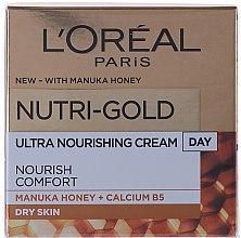Парфюми, Парфюмерия, козметика Овлажняващ дневен крем за лице - L'Oreal Paris Nutri Gold Day Cream