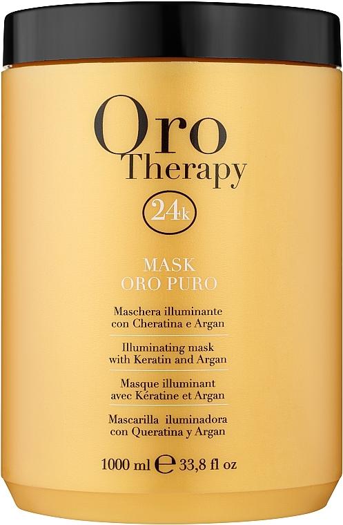 Регенерираща маска с активни микрочастици от злато - Fanola Oro Therapy Oro Puro Mask