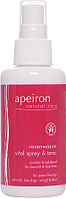 Парфюмерия и Козметика Спрей за лице и деколте с розозова вода - Apeiron Rose Water Vital-Spray