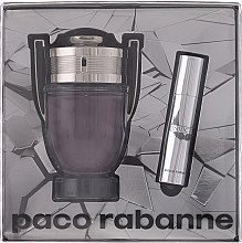 Парфюми, Парфюмерия, козметика Paco Rabanne Invictus - Комплект (тоал. вода/100ml + тоал. вода/мини/10ml)