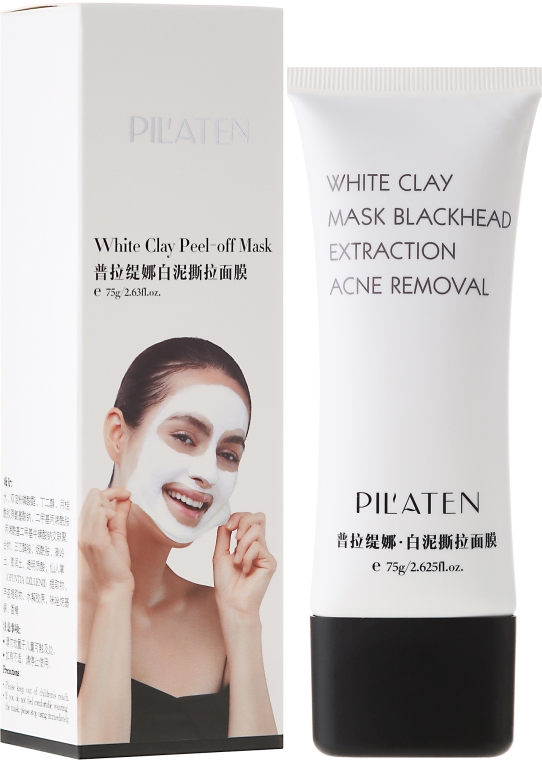 "Маска за лице ""Бяла глина"" - Pil'Aten White Clay Mask Blackhead Extraction Acne Removal"