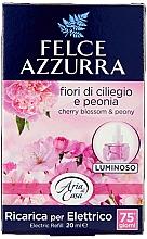 Парфюмерия и Козметика Пълнител за електрически дифузер - Felce Azzurra Peony & Cherry Blossom