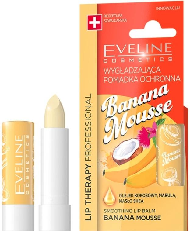 Балсам за устни с аромат на банан - Eveline Cosmetics Lip Therapy Smoothing Balm Banana Mousse