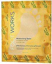 Парфюмерия и Козметика Хидратираща чорапи-маска за крака с ананас и чаено дърво - Avon Foot Works Mask For Legs
